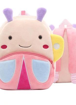 Мягкий плюшевый рюкзак-игрушка божья коровка для маленьких принцесс. рюкзак kakoo