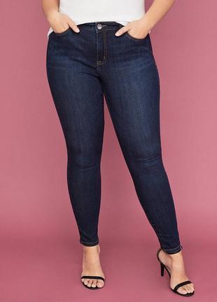 Джинсы темно-синие h&m denim jeans skinny ankle regular waist р-р l (eur 31)