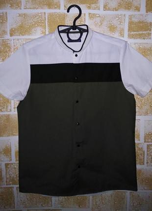 Крутая  брендовая рубашка на кнопках