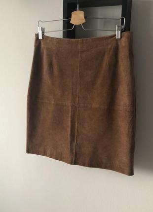 Шикарная кожаная замшевая юбка dibari