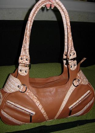 Бренд шикарная сумка ripani италия кожа оригинал