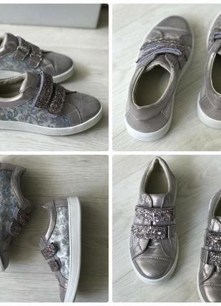 Кожаные школьные туфли мокасины для девочки