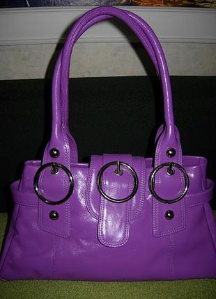 Необыч яркая сумка tommy&kate кожа оригинал