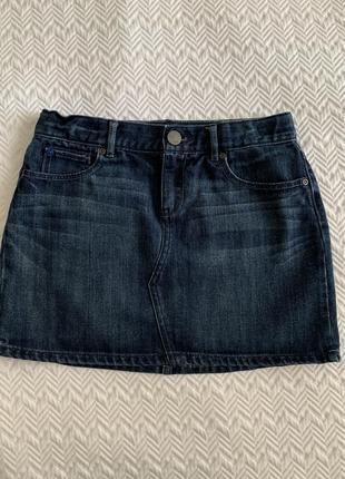 Юбка gap мини узкая джинсовая