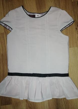 Блузка школьная с коротким рукавом