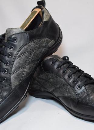 Туфли кроссовки geox respira мужские кожаные. индия. оригинал. 43 р./28.5 см.