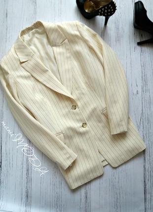 Стильный светлый пиджак в полоску от mark spencer uk20