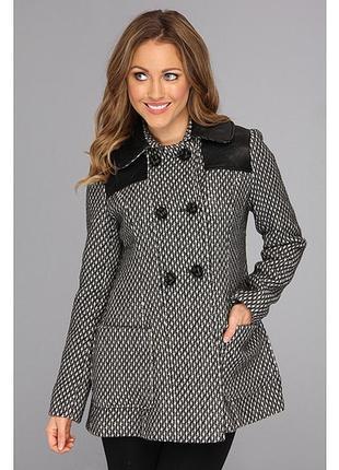 Демисезонное пальто из полушерстяного твида от джессики симпсон