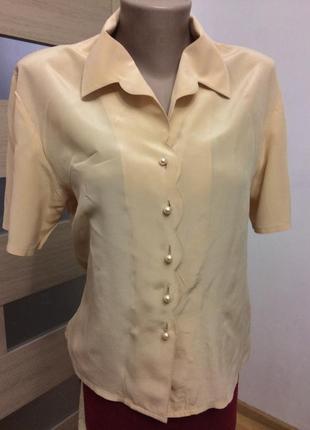 Modissa элегантная блузка натуральный шёлк
