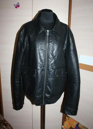 Стильна шкіряна куртка barneys