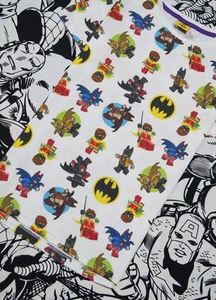 Футболка с принтом лего бэтмен и робин lego batman & robin