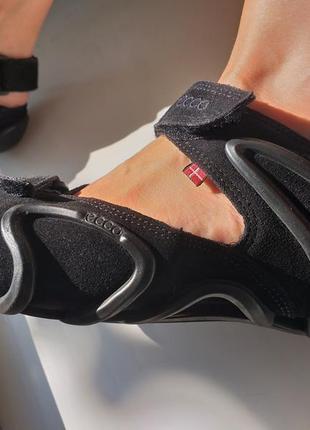Ecco сандалии оригинал замша, кожа 40р. босоножки