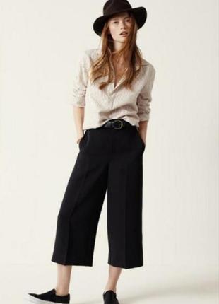 Актуальные черные брюки кюлоты большой размер