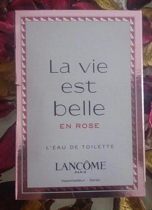 Пробник lancome la vie est belle en rose