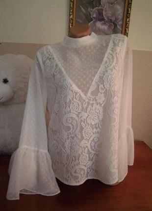 Шикарная кружевная блуза от love&divine!
