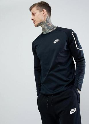 Nike av15 пот в черном толстовка