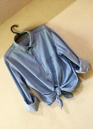 Идеальная джинсовая рубашка, топ, как zara