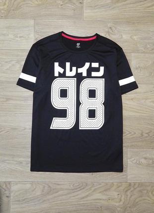 Спортивная мужская футболка h&m р. l. состояние новой