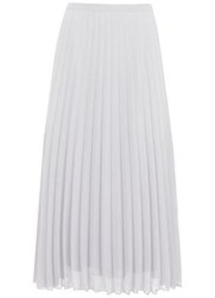Вне сезона! трендовая белая юбка плиссе, плиссированная юбка, mint velvet