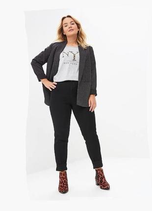 Зауженные джинсы высокая посадка талия от bonprix