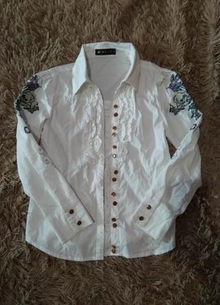 Блуза на дівчинку 10-11років