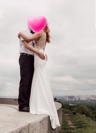 Шикарное свадебное платье crystal design. 8000 грн.2 фото