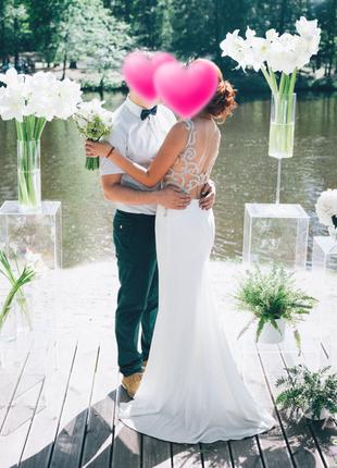 Шикарное свадебное платье crystal design. 8000 грн.4 фото