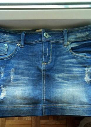 Супер юбочка джинсовая