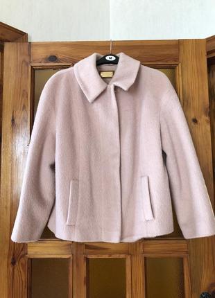 Курточка, меховая курточка, m&s, накидка, жакет, піджак, пиджак, розовый жакет