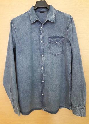 Рубашка батал на кнопках под джинс, ворот 47,5, разм. xl 43/44, livergy