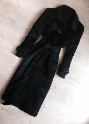 Прямое классическое пальто шерсть