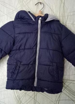 Зимняя классная курточка zara baby на 18-24 мес 1-2 года