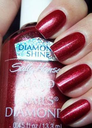 Лак для ногтей sally hansen diamond shine - crimson diamond