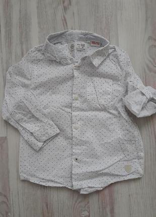 Крутая рубашка для маленького модника zara 92