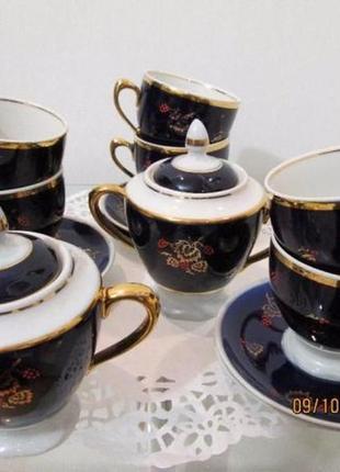 Чайный сервиз кобальт 80-е годы