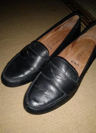 Лофери шкіряні, туфлі