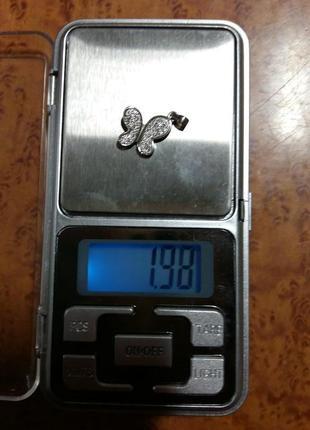 Кулон-бабочка серебро 925