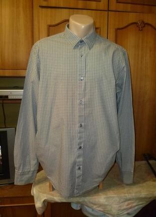 Фирменная рубашка с длинным рукавом осень-весна,индия,мужская,большой рост