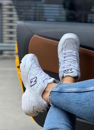 Крутые кроссовки new balance 608 в белом цвете (весна-лето-осень)😍4 фото