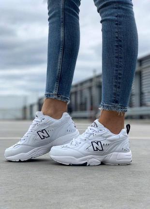 Крутые кроссовки new balance 608 в белом цвете (весна-лето-осень)😍1 фото