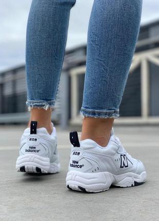 Крутые кроссовки new balance 608 в белом цвете (весна-лето-осень)😍5 фото