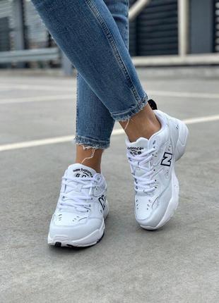 Крутые кроссовки new balance 608 в белом цвете (весна-лето-осень)😍7 фото