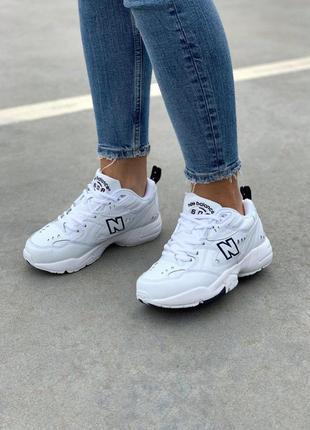 Крутые кроссовки new balance 608 в белом цвете (весна-лето-осень)😍2 фото