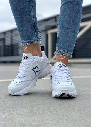 Крутые кроссовки new balance 608 в белом цвете (весна-лето-осень)😍6 фото
