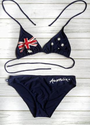Купальник бикини, раздельный с флагом по супер цене!  австралия