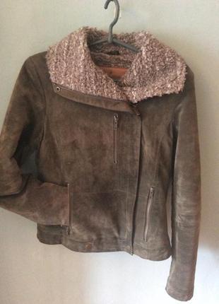 Куртка замшевая зеленая goosecraft