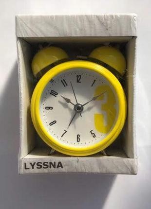 Настольные часы / будильник ikea lyssna , желтый икеа луссна