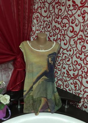 Женская майка- футболка *only*с стразами . модель oversize фасона.