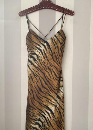 Сатиновое платье макси topshop новая коллекция