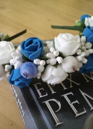 Обруч ободок с цветами